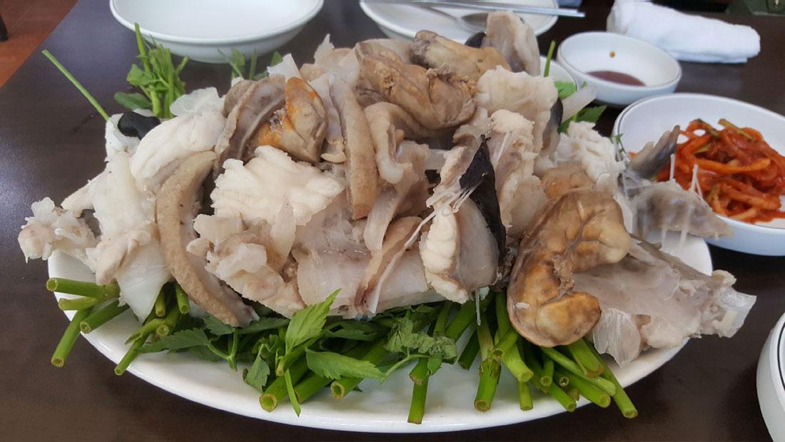 오다리집 명동맛집 메뉴 odarijip Boiled Monkfish Slices